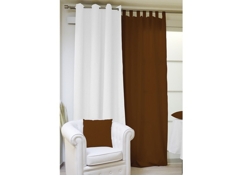 rideau isolant et occultant oeillets 140x240 cm chocolat selartex. Black Bedroom Furniture Sets. Home Design Ideas
